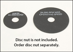 Fiber backing discs - Phenolic, plastic pads