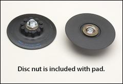 Semi-flexible plastic backing pads
